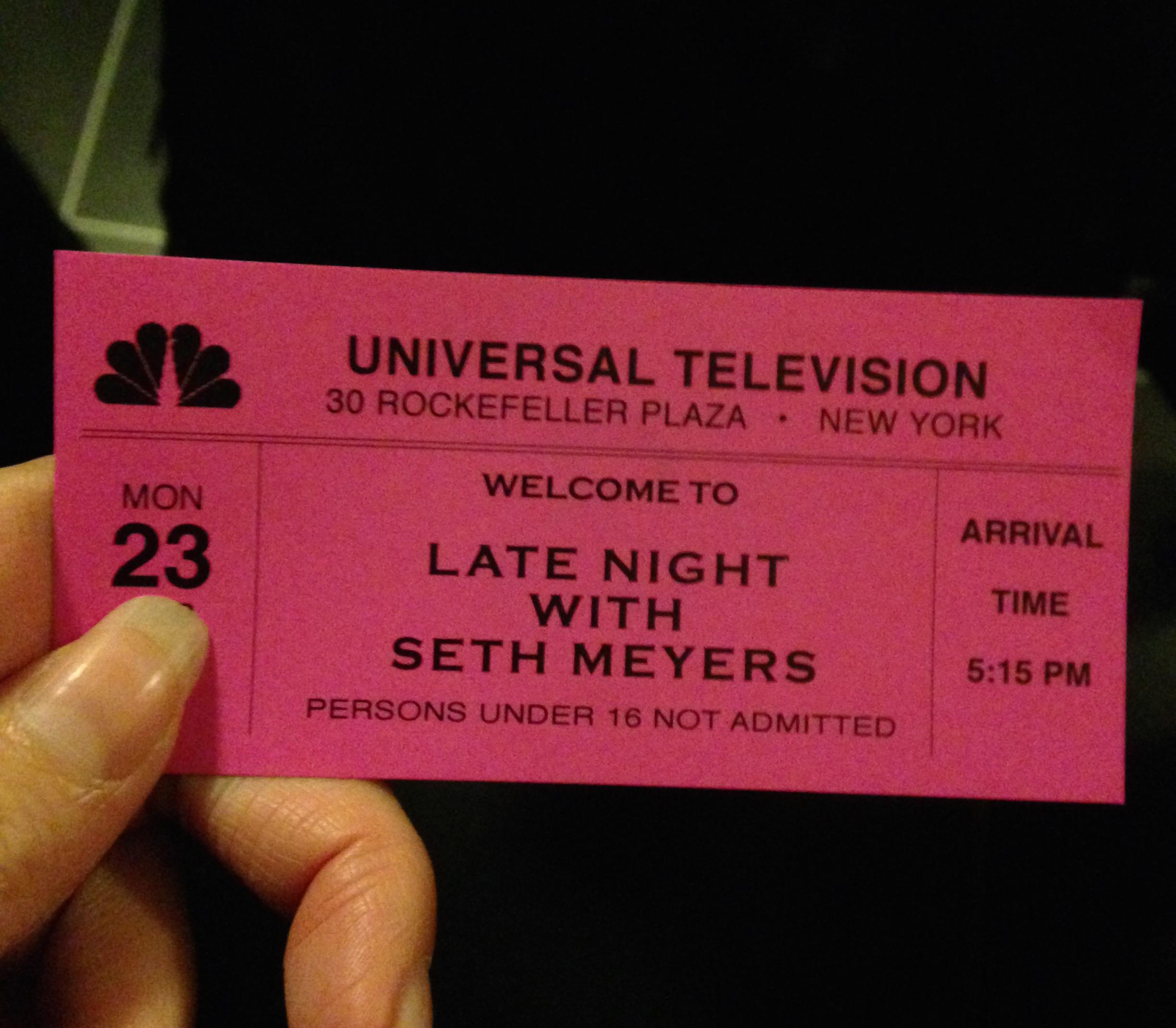 Seth Meyers Studio Tour